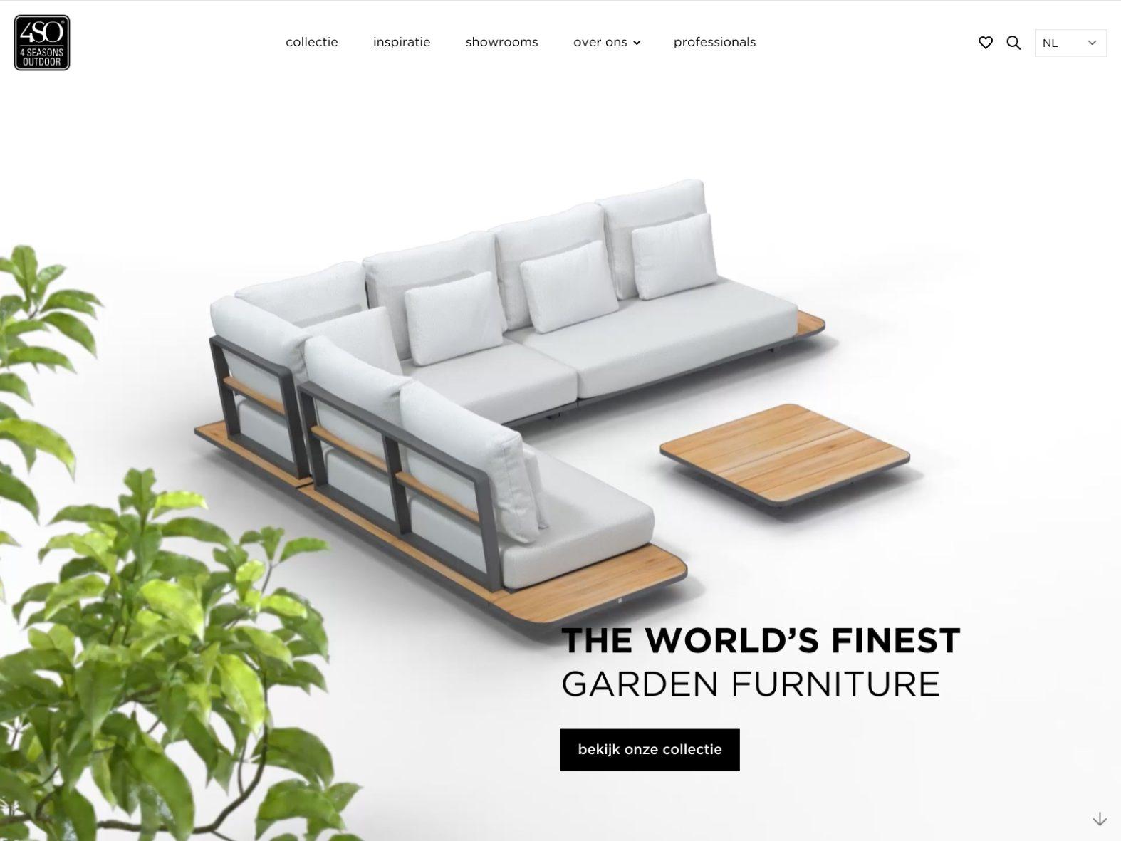 Website voor 4 Seasons Outdoor