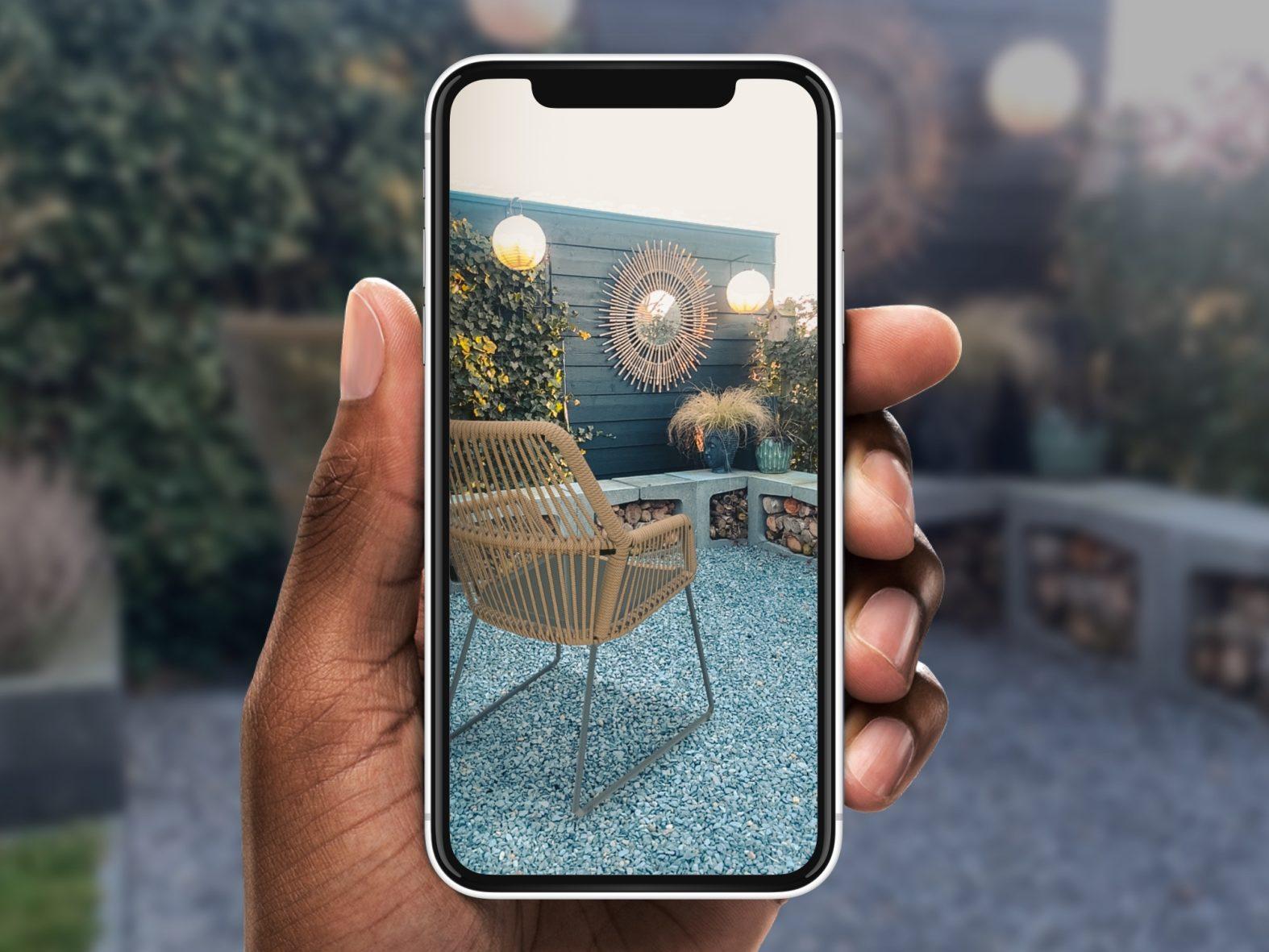 Meubels in je tuin plaatsen met Augmented Reality
