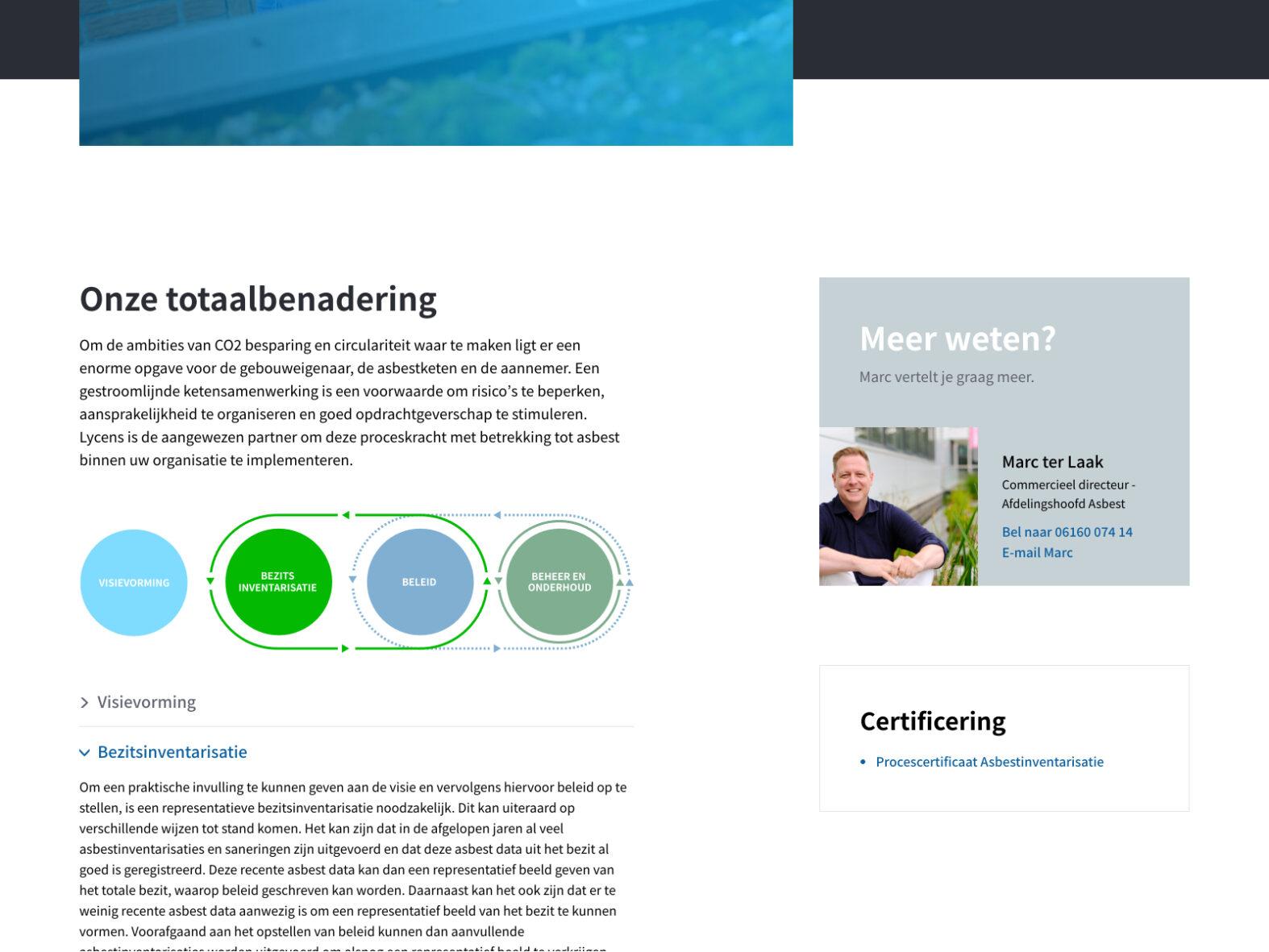 Website voor Lycens